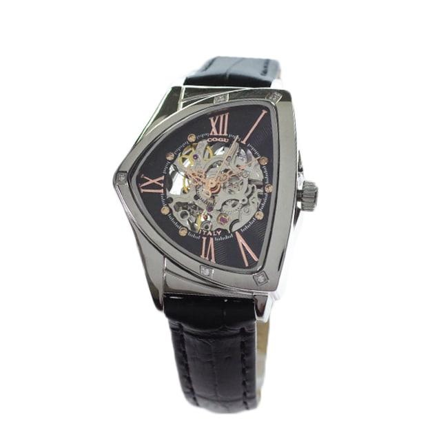 コグ レディース 腕時計BS01T BRG 自動巻き ブラック < 女性アクセサリー/時計の
