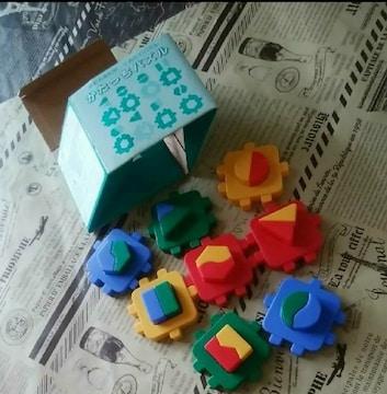 1293未使用かたちあわせくみたてパズルかたっちパズル箱だけ難有