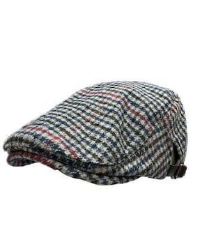 送料無料 N798 OUTLET 千鳥柄 ハンチング  帽子 Cap