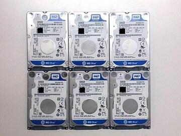 ★ハードディスク WD WD3200LPVX 320GB SATA 6個セット
