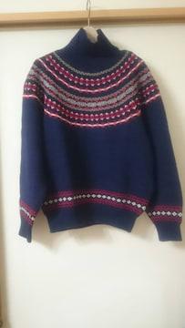 無メーカー タートルネックセーター