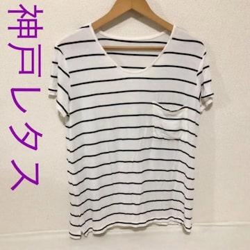 ボーダー薄手Tシャツ カットソー□