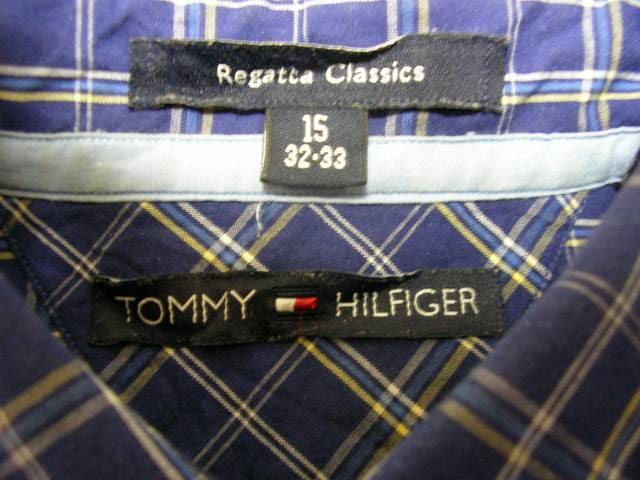 即決USA古着トミーヒルフィガーチェックシャツ!ビンテージ < ブランドの