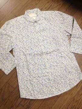 美品CIAO PANIC  小花柄7分丈シャツ 日本製 チャオパニック