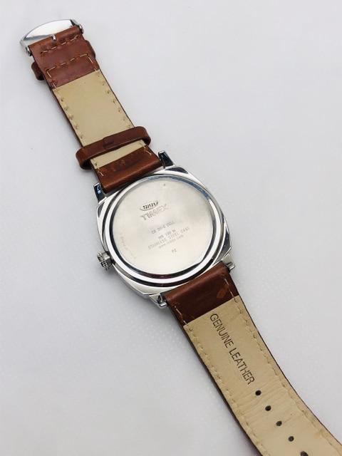 T179 美品★ タイメックス メンズ 腕時計 クオーツ 本革ベルト < ブランドの