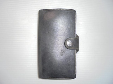 ケース カバー スマートフォン 手帳型 レザー ブラック 中古品
