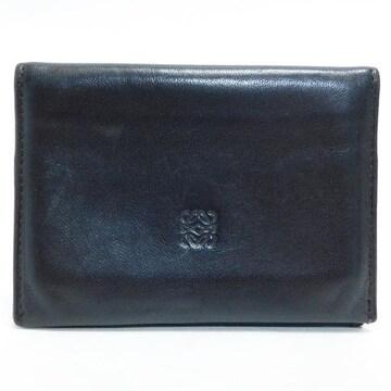 LOEWEロエベ カードケース レザー 濃茶 良品 正規品
