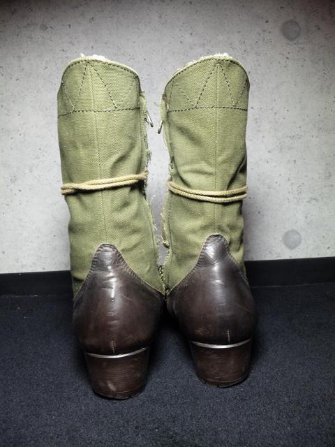 トルネードマート〓レースアップブーツ靴〓ブラウン×カーキ/M < ブランドの
