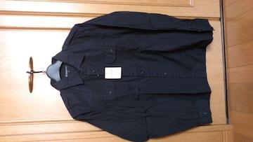 激安74%オフ、ユナイテッドアローズ、長袖シャツ(新品タグ、黒、日本製、M)