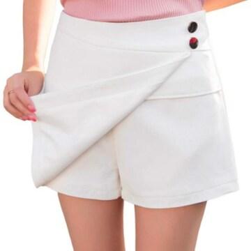 ミニスカートに見える!! 可愛いスカンツ(M寸・白)
