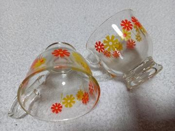 アンティーク ガラスコップ 切手ok 昭和レトロ