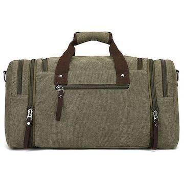 ボストンバッグ 旅行鞄 キャンバス メンズ 2WAY グリーン