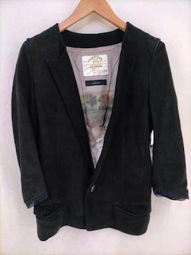BLACK MEANS(ブラックミーンズ)1Bスウェードレザーテーラードジャケットレザージャケット