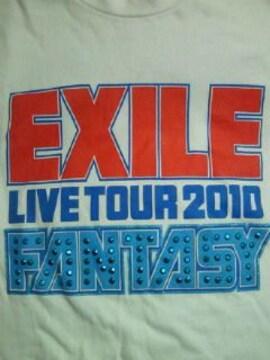 EXILE エグザイル ライブ コンサート ツアー 2010 FANTASY Tシャツ ホワイト Sサイズ 鋲