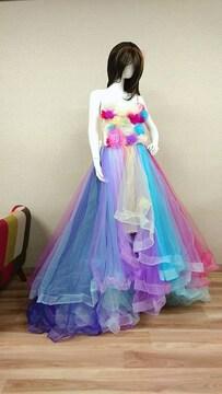 レインボードレス ウエディングドレス Mサイズ 即納
