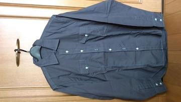 激安91%オフカジュアル、セレクト、長袖シャツ(美品、灰、M)