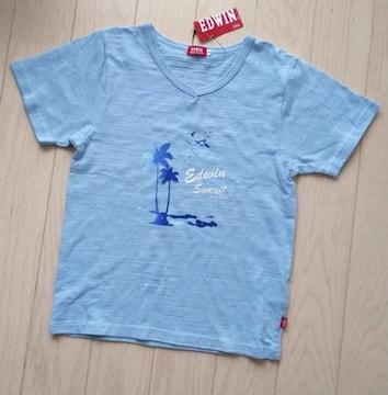 EDWIN★130★Vネック半袖Tシャツ★新品
