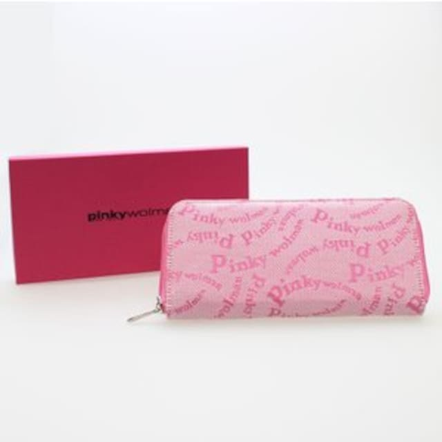 ピンキーウォルマン(Pinky wolman)Style-F ラウンドファスナー長財布 84041 桃 < ブランドの