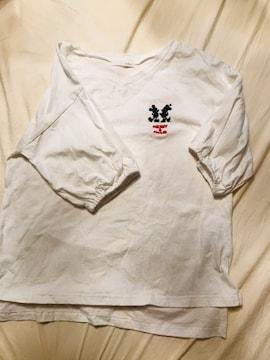 未使用index白ミッキーミニーTシャツ