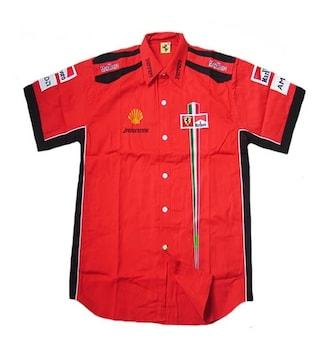 1セール! フェラーリ ロゴ  シャツ XL f174