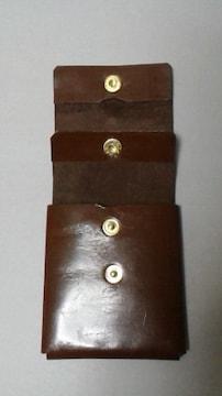 新品 / ハンドメイド W のコインケース (ミニ財布可)  !