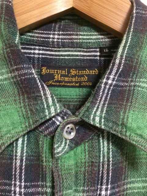 JOURNAL STANDARD チェックシャツ J.S.Homestead < ブランドの