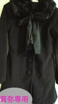 後ろリボン&レースバッスル姫コート◆大きいサイズ/ゴスロリ◆18日迄コート限定セット割