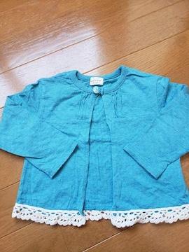 ☆新品未使用☆キッズズー丸高衣料☆カーディカンボレロ☆90