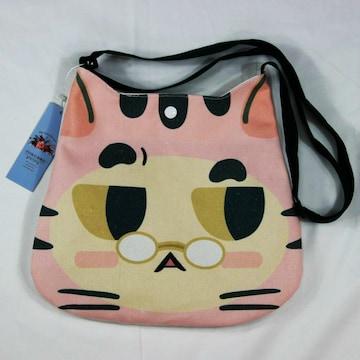 ◆猫大好き◆猫柄ショルダーバッグ キャンバス地 BA08