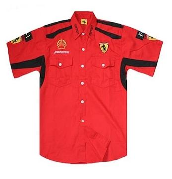 1セール! フェラーリ ロゴ  シャツ XL f179
