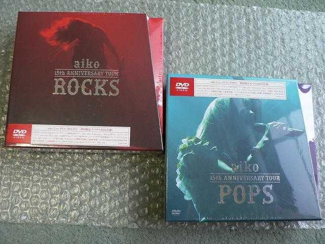 ★新品★aiko/15th Anniversary【POPS+ROCKS】初回盤2枚set/4DVD  < タレントグッズの