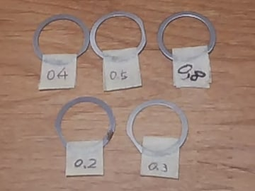 [AO9]アヴェニス125/150用プーリーボスワッシャ5種set