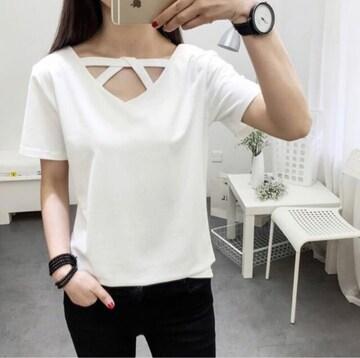 《新品》デザイン Tシャツ サイズL ホワイト