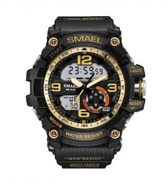 SMAEL 1617 スポーツウォッチ(ブラック・ゴールド)