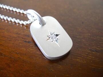 仁尾彫金『一つ星ダイヤプレート3.0mm』ハンドメイド