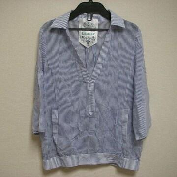 ルスリー 38 七分袖 薄手 スキッパー シャツ