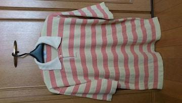 激安92%オフレノマ、ボーダー、ポロシャツ(ベージュ、日本製、L)