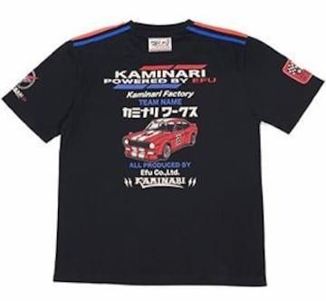 カミナリ雷/110サニー/Tシャツ/黒/S/kmt-122/エフ商会/テッドマン/カミナリモータース