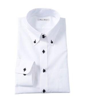 4Lサイズ!形態安定!高貴紳士的!長袖ワイシャツ(ドゥエボタンダウン)新品!