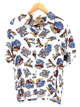 SCHOTT BROS(ショット)総柄オープンカラー 開襟シャツアロハシャツ
