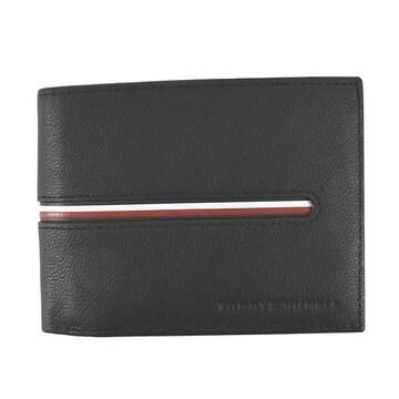 ◆新品本物◆トミーヒルフィガー 2つ折財布(BK)『AM0AM07294』◆
