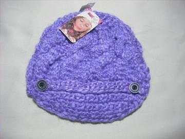 wb135 女 BILLABONG ビラボン つば付き ニット帽 紫