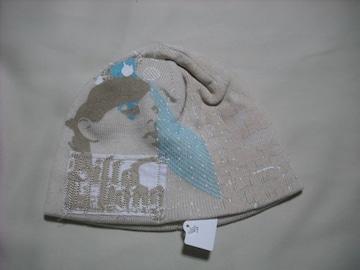 wb266 女 BILLABONG ビラボン ニット帽 ベージュカーキ