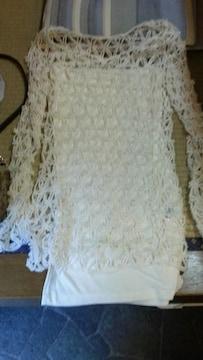 新品〓チューブトップと編み込み長袖セット