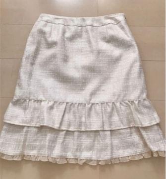 美品 フリル ティアード スカート