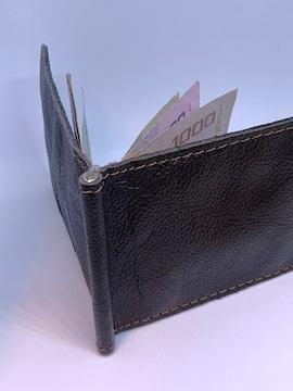 財布 マネークリップ 牛革 ハンドメイド THM003