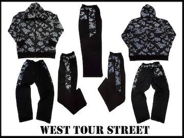 新 west tour street 新柄 セットアップ 黒 2XL・3XL