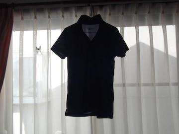 BODYの黒のポロシャツハイネック(M)!。