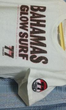 白のピチTシャツ★前後プリント★Mサイズ