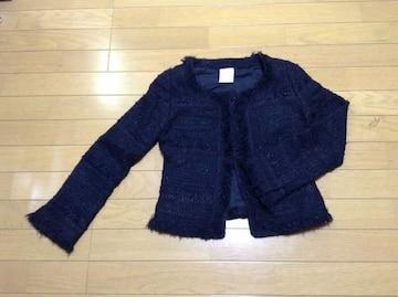 LE SOUK(ルスーク)ノーカラーツィードジャケット超美品
